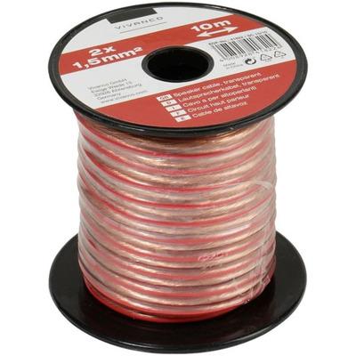 Vivanco Lautsprecherkabel 2x 1.5 qmm (10m) Audio Kabel