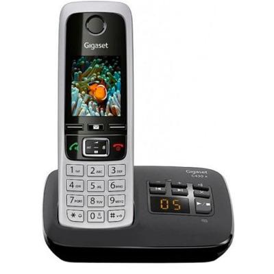 Gigaset C430A schwarz silber Festnetz Telefon