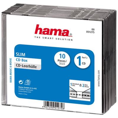 Hama CD 10er Pack slim box CD-Box