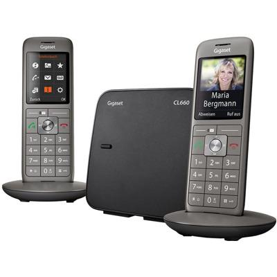 Gigaset Cl660 Duo grau Festnetz Telefon