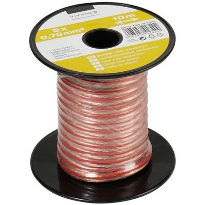 Vivanco Lautsprecherkabel 2x 0.75 qmm (10m) Audio Kabel