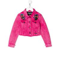 Marco Bologna Kids embellished shoulders jacket - Pink