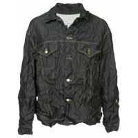 Facetasm Facetasm x Woolmark crinkled denim jacket - Blue