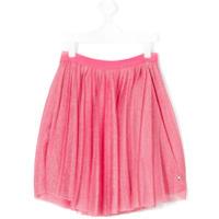 Emporio Armani Kids pleated metallic skirt - Pink