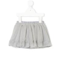 Fendi Kids heart embroidered tulle skirt - Grey