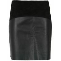 Egrey panelled skirt - Black