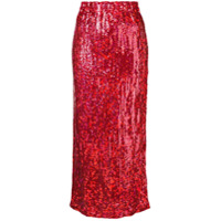 Comme Des Garçons Vintage 1999 sequin mid skirt - Red