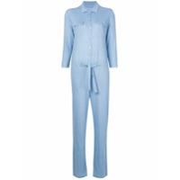 Majestic Filatures collared jumpsuit - Blue