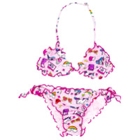 Mc2 Saint Barth Kids multi-print bikini set - Pink