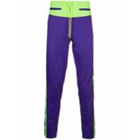 Sankuanz paneled sweat pants - Purple