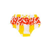 No & Zoe patterned nappy swim shorts - Yellow