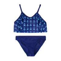 Duskii Girl anchor print bikini - Blue