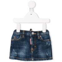 Dsquared2 Kids distressed denim skirt - Blue