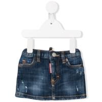 Dsquared2 Kids distressed denim skirt - Blue