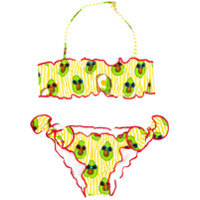 Mc2 Saint Barth Kids avocado print bikini set - Yellow