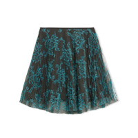 Burberry Kids TEEN Pleated Lace Skirt - Blue