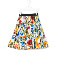 Dolce & Gabbana Kids floral print skirt - Multicolour