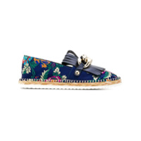 Casadei floral embroidered espadrilles - Blue