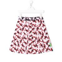 Marni Kids printed pleated skirt - White