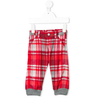 Il Gufo checked trousers - Red