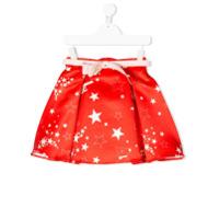 Elisabetta Franchi La Mia Bambina star print skirt - Red