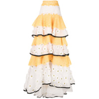 Carolina Herrera tiered ruffled skirt - Yellow