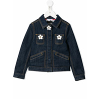 Little Marc Jacobs daisy appliqus denim jacket - Blue