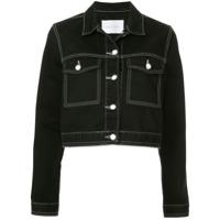 Nobody Denim Hunter cropped denim jacket - Black