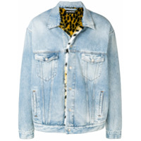 Balenciaga Oversized denim fur jacket - Blue