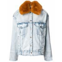 Levi's furry collar denim jacket - Blue