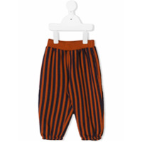 Bobo Choses contrast striped trousers - Brown