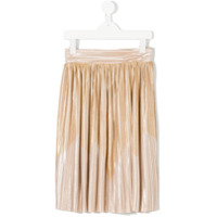 Andorine pleated metallic skirt - Neutrals