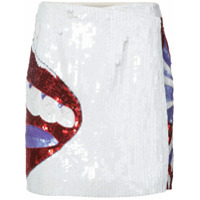 Olympia Le-Tan sequinned lip skirt - White