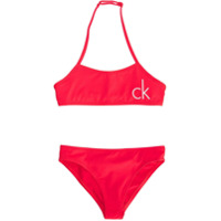 Calvin Klein Kids printed logo bikini - Pink