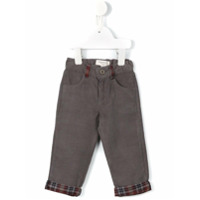 Cashmirino Plaid panel jeans - Grey