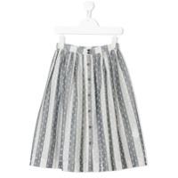 Caffe' D'orzo Odina striped skirt - Grey