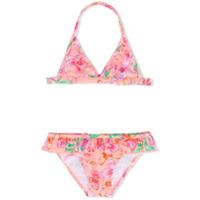 Sunuva tropical butterfly print bikini - Yellow