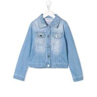 Miss Blumarine gem embellished jean jacket - Blue