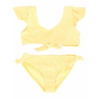 Duskii Girl Amelie ruffle bikini set - Yellow