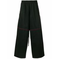 Komakino piped wide leg trousers - Black