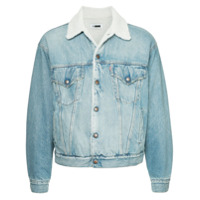 H Beauty&Youth fitted denim jacket - Blue