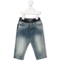 Emporio Armani Kids elasticated waistband jeans - Blue
