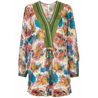 GINGER & SMART Submerge floral print playsuit - Multicolour