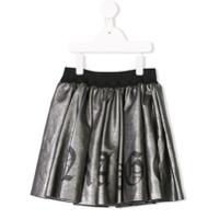 John Richmond Junior metallic mini skirt - Silver