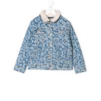 Kenzo Kids graphic print denim jacket - Blue