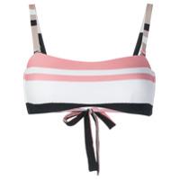 Asceno bold stripe wrap bikini bandeau - Multicolour