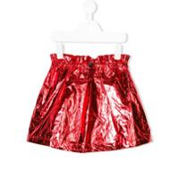 Andorine mini metallic skirt - Red