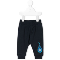 Paul Smith Junior embroidered robot trousers - Blue