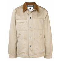 G-Star Raw Research contrast collar denim jacket - Neutrals