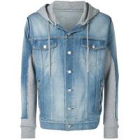Balmain hooded denim jacket - Blue
